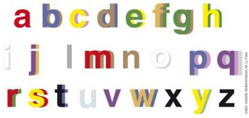 Letters coloured to show what a synaesthete might perceive
